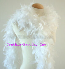 White w/ Silver Tinsel 65 Grams Chandelle Feather Boa Dance Party Halloween