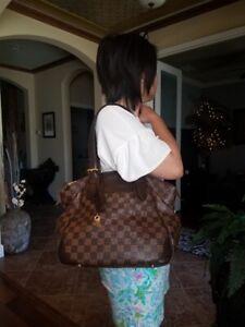 Authentic Louis Vuitton Damier Ebene Verona Shoulder Handbag MM