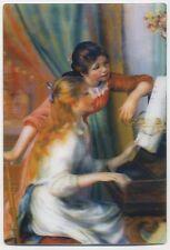 3-D Zwei Junge Mädchen Im Piano von Pierre Auguste Renoir Lenticular 3D Postcard