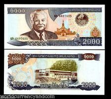 LAO LAOS 2000 KIP P33 2003 BUNDLE HYDRO ELECTRIC UNC CURRENCY BILL 100 BANK NOTE