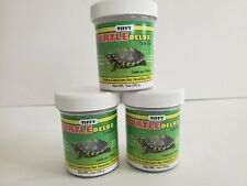 New listing 3xTurtle Food Reptile Food Turtle Delux Tiffy Fish Meal Krill Meal with calcium