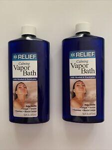 (2X) Relief Calming Vapor Bath with Menthol & Eucalyptus 16 oz ea