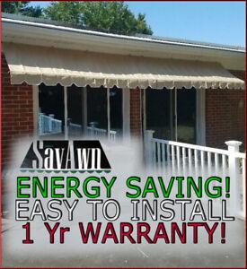 SALE! SavAwn 4' Window Door Office Home Retractable Awning Brown Tan Beige