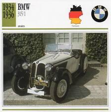 1934-1936 BMW 315/1 Sports Classic Car Photo/Info Maxi Card