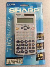 Sharp EL520VB Scientific Calculator 2-Line LCD Twin Power 238 Functions OPEN PKG