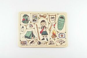 Wooden Puzzle Travelling Game, 16 Graphic Elements, English / Russian Game