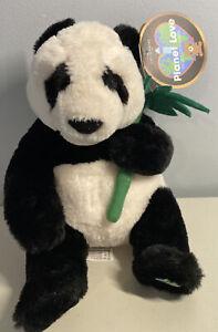 FAO Schwarz Panda Plush Stuffed Bear W/ Bamboo Shoot Planet Love NWT