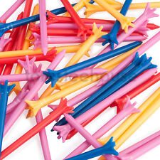 200 x Zero Friction Plastic Golf Tees - 70mm MIXED COLOUR TEES