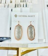NEW Kendra Scott Elle Silver Filigree Rose Gold tone Earrings