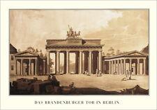 Berlin Brandenburger Tor Poster Kunstdruck Bild Plakat 50x69cm