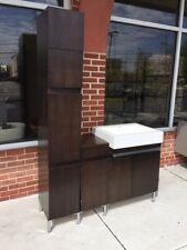 "Bath Vanity 51"" Contemporary Vanico-Maronyx Brown Wood with Polymer Sink"