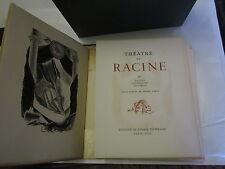 Théâtre de Racine T 3 Eaux-Fortes de Pierre Leroy/Ed. de l'image Littéraire 1949