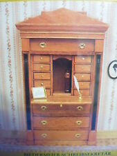 DOLLS House mobili Biedermeier Bureau. ARREDI KIT md40095
