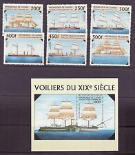 Guinea # 1396-1402 MNH Complete W/SS 19th Century Ships Navy Military