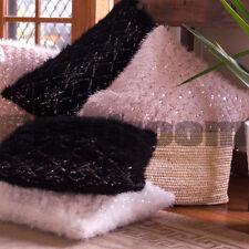 Luxury Beaded Velvet Cushion Case with Circle 45X45cm in Light 107214-Grey