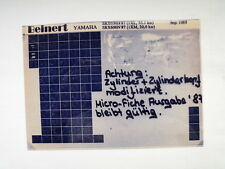 YAMAHA SRX 600 _ H _N_ 1987 microfilm catalogo ricambi PEZZO DI LISTELLO
