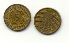 ALLEMAGNE GERMANY DEUTSCHLAND 5 PF DEUTSCHES REICH 1925