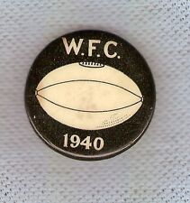 #A. UNKNOWN AUSTRALIAN RULES FOOTBALL CLUB TIN BADGE, W.F.C., 1940