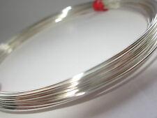Plata Esterlina 925 de la mitad de alambre redondo 21gauge 0,72 mm Suave 1 Oz