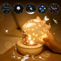 LED Rotating Projector Starry Night Lamp Star Sky Romantic Projection Light UK