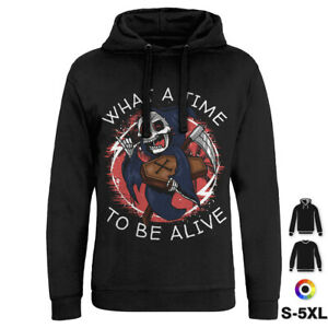 What A Time To Be Alive Funny Hoodie Death Skull Grave Grim Reaper Evil D096