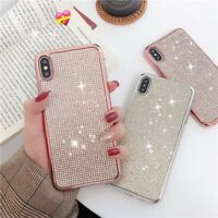 Bling Cover for iPhone 11 Xs Max XR X 8 Full Small Diamond Rhinestone Soft Case