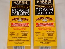 Harris Roach Tablets Killer 2x145 6 oz Boric Acid Roaches Waterbugs + Hrt-6