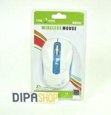 Mouse Ottico TeKone WM002 Wireless Senza fili 1600dpi Blu Pc Notebook hsb