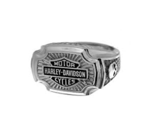 """Harley-Davidson® Men""""s  Sterling Silver  H-D B&S Classic Ring HDR456"""