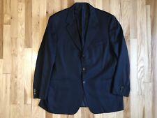 Brioni Italy Mens Blazer Sport Coat Jacket Wool Size 47 R Black Italy Worz Euc
