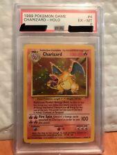 1999 Pokemon Game Base Set Holo Charizard #4 PSA 6 EX-MT