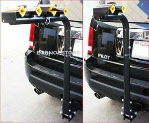 "4 or 2  Bike Rack 2"" Hitch Mount Swing Down Adjustable Bicycle Carrier Rack SUV"