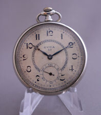 Vintage Cyma Cyma 17'''7 Art Deco 15 jewels Steel Pocket Watch