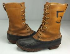 L.L. Bean Women's Original Maine Hunting Shoes Rubber & Leather 7-Eye USA Size 6