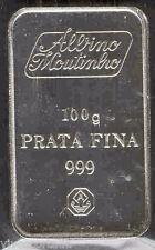 Ingot silver fina 100 Grams  999 mm Albino Moutinlro