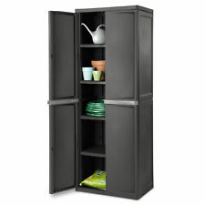 Cabinet Storage Organizer Adjustable 4 Shelf Heavy-Duty Construction Flat Gray