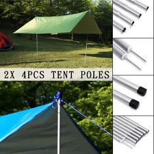 2 x 4Pcs Adjustable Universal Telescopic Tent Poles Rod Awning Camping
