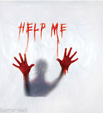 New Bloody Deluxe Help Me Shower Curtain Halloween Horror Prop Morgue Decoration