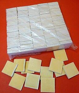 24 x FOAM FILLED PADDED JEWELLERY DISPLAY INSERTS/PADS - 42mm X 42mm x 4mm FOAM