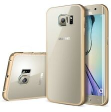 Samsung Galaxy S7 S6 EDGE+Plus Phone Aluminum Metal Bumper Case+Clear Back Cover