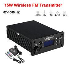 CD-01 15W Wireless FM Transmitter Radio FM Exciter Broadcast RF Audio 87-108MHZ