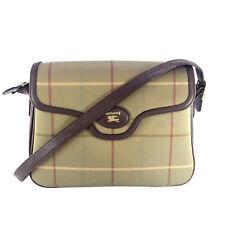 BURBERRY VINTAGE OLIVE BROWN CHECK SHOULDER BAG