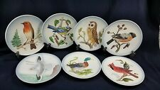 7 Goebel Wildlife Bird Plates Robin Titmmouse Finch Owl Gull Mallard Cardinal