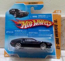Hot Wheels '81 DELOREAN DMC-12 Black Transf FUTURE TIME MACHINE Regreso  Futuro