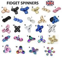 Fidget Finger Spinner Rainbow Metal Ultimate Spin EDC Bearing Stress Toys UK