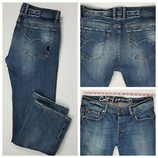 Cult of Individuality Hagen Straight Leg Button Fly Distressed Jeans Size 34x30