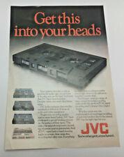 Vintage JVC Advertising Leaflet or Poster For JVC Tape Cassettes