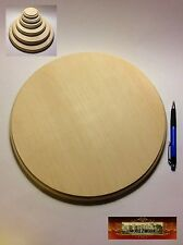 "M01514 MOREZMORE 1 Unfinished 12"" Round Wood Base Wooden Plaque Stand A60"