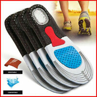Solid Silicone Gel Insoles Case Plantar Fasciitis OrthoCentral Pad Insole DD