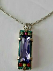 Firefly Amethyst Necklace 18-21""